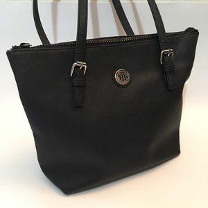 Tommy Hilfiger Textured Nylon Hobo Bag